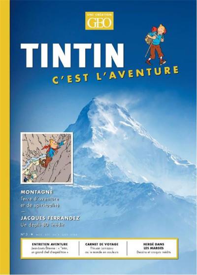 Couverture Tintin c'est l'aventure tome 3 - La montagne