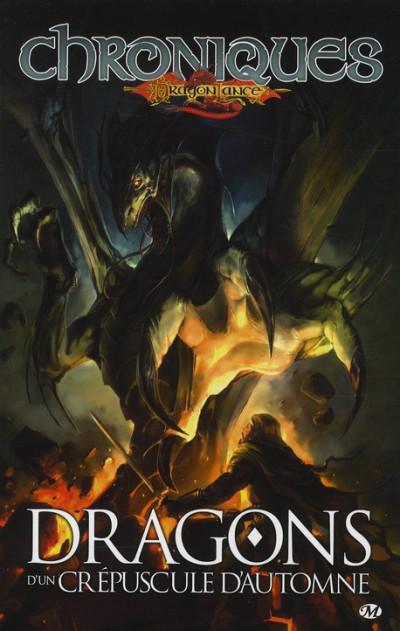 Couverture chroniques de dragonlance tome 1 - dragons d'un crépuscule d'automne