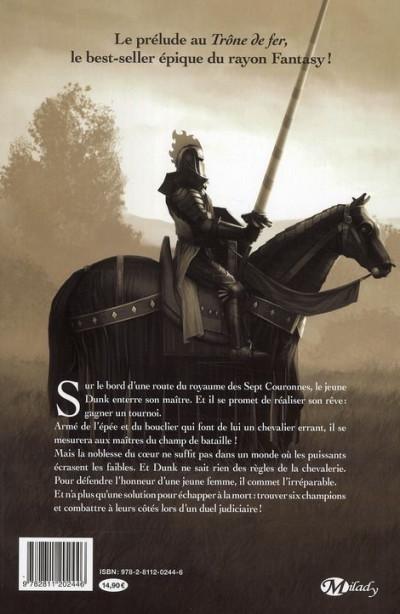 Dos le chevalier errant tome 1 - préquelle au trône de fer
