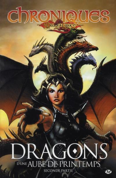 Couverture chroniques de dragonlance tome 4 - dragons d'une aube de printemps tome 2