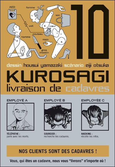 Couverture kurosagi, livraison de cadavres tome 10