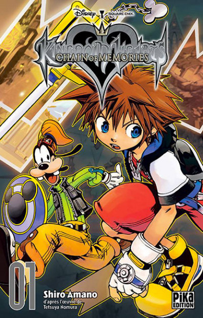 Couverture kingdom hearts - chain of memories tome 1
