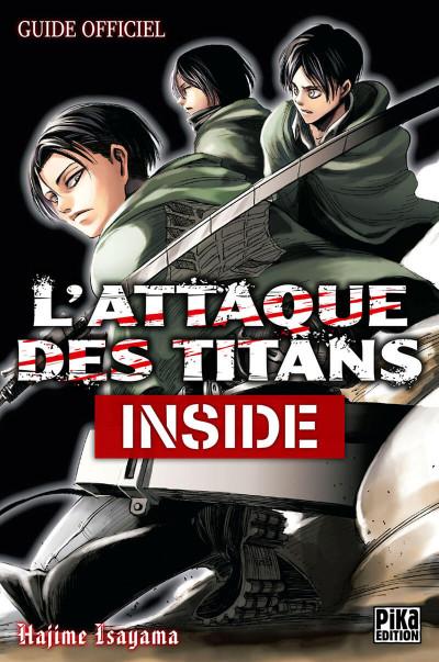 Couverture l'attaque des titans inside - le guide officiel