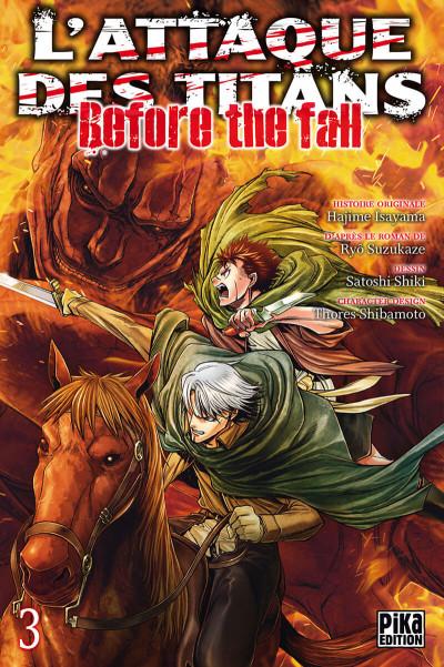 Couverture L'attaque des titans - before the fall tome 3