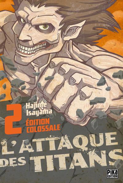 Couverture L'attaque des titans - édition colossale tome 2