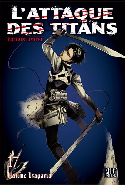 Couverture L'attaque des titans tome 17 - édition collector