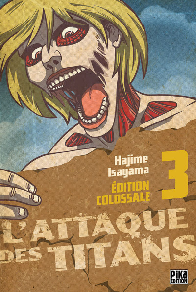 Couverture L'attaque des titans - édition colossale tome 3