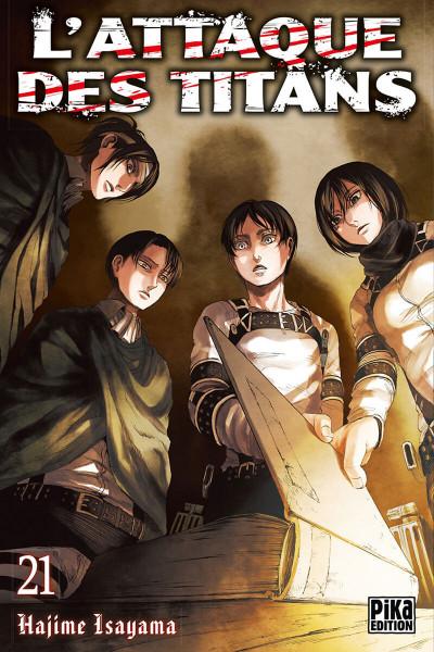 Couverture L'attaque des titans tome 21