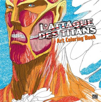 Couverture L'attaque des titans - art coloring book