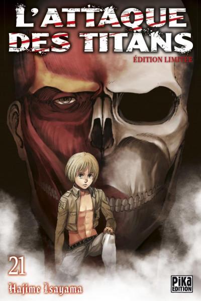 Couverture L'attaque des titans tome 21 - édition limitée