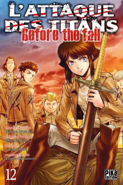Couverture L'attaque des titans - before the fall tome 12