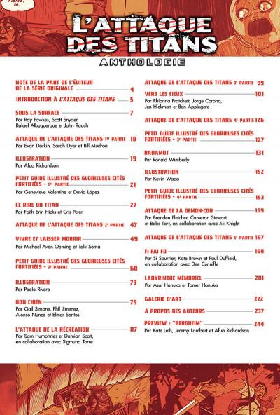 Page 6 L'attaque des titans - anthologie