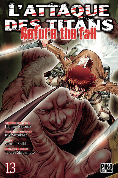 Couverture L'attaque des titans - before the fall tome 13