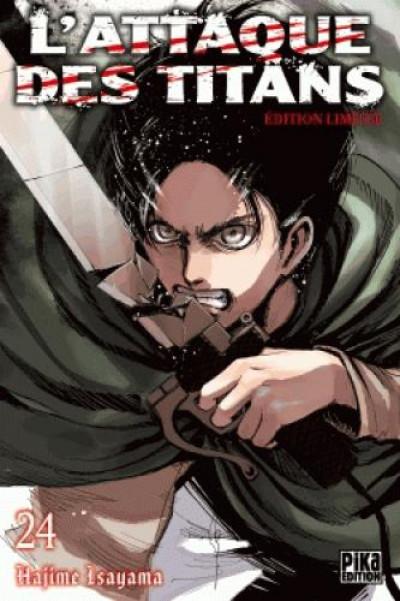 Couverture L'attaque des titans tome 24 (édition collector)