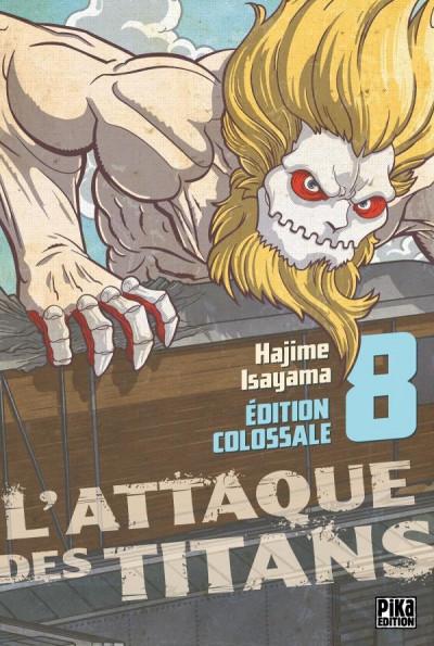 Couverture L'attaque des titans - édition colossale tome 8