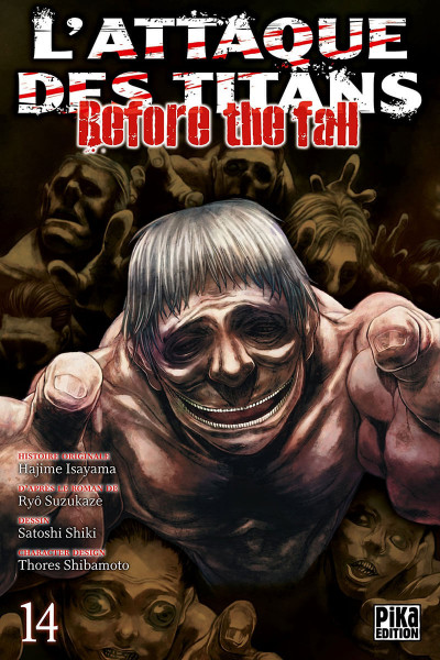 Couverture L'attaque des titans - before the fall tome 14