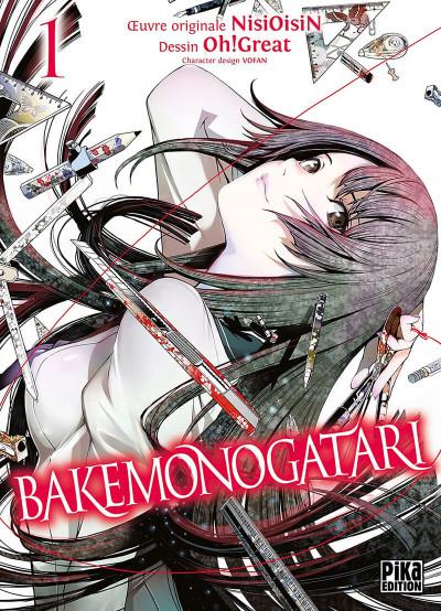 Couverture Bakemonogatari tome 1 + 1 planche de marque pages