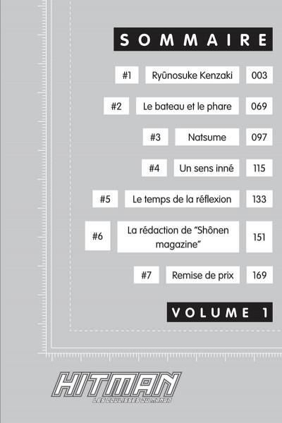 Page 2 Hitman - les coulisses du manga tome 1