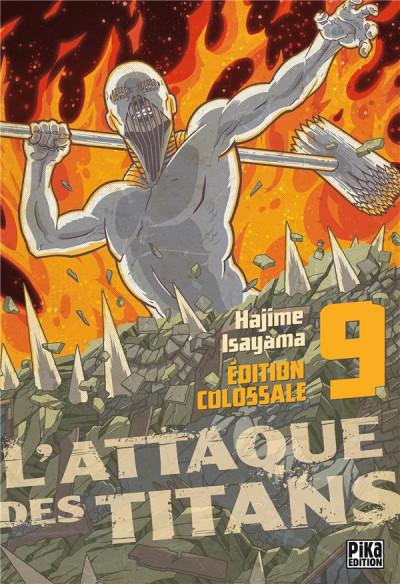 Couverture L'attaque des titans - édition colossale tome 9
