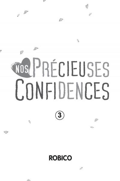 Page 1 Nos précieuses confidences tome 3