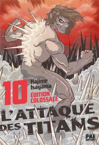 Couverture L'attaque des titans - édition colossale tome 10