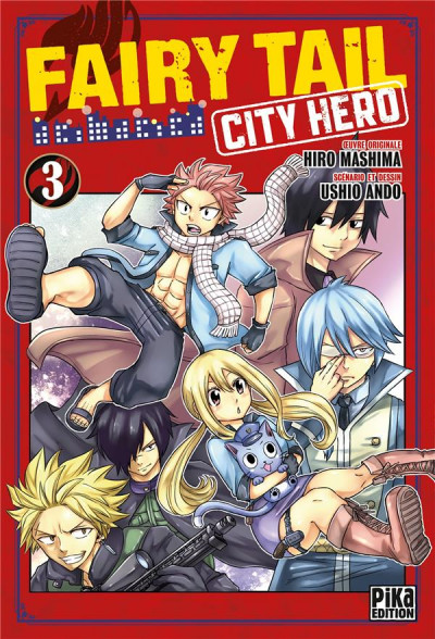 Couverture Fairy tail - city hero tome 3