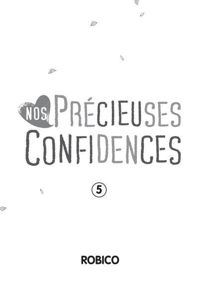 Page 1 Nos précieuses confidences tome 5