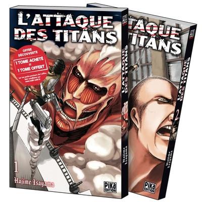 Couverture L'Attaque des Titans - Pack découverte tomes 1 et 2