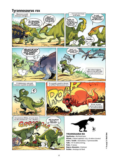 Page 3 Les dinosaures en bande dessinée tome 1