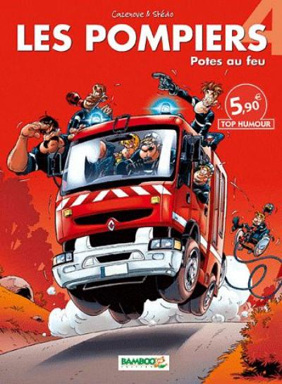 Couverture les pompiers T.4 - potes au feu