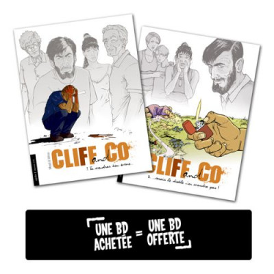 Couverture Pack Découverte Cliff & co tome 1 + tome 2 offert