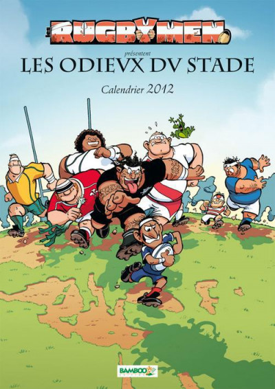 Couverture les Rugbymen ; calendrier 2012