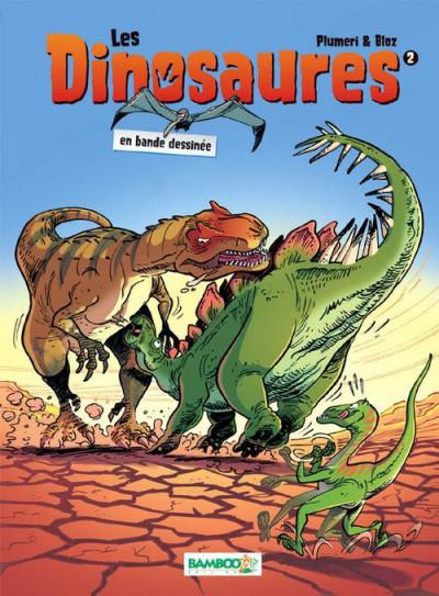 Couverture Les dinosaures en bande dessinée tome 2