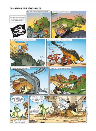 Page 1 Les dinosaures en bande dessinée tome 2