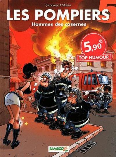 Couverture Les pompiers tome 5 - hommes de casernes