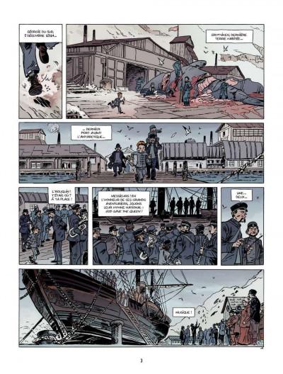 Page 1 Sur les bords du monde tome 1 - L'Odyssée de Sir Ernest Shackleton