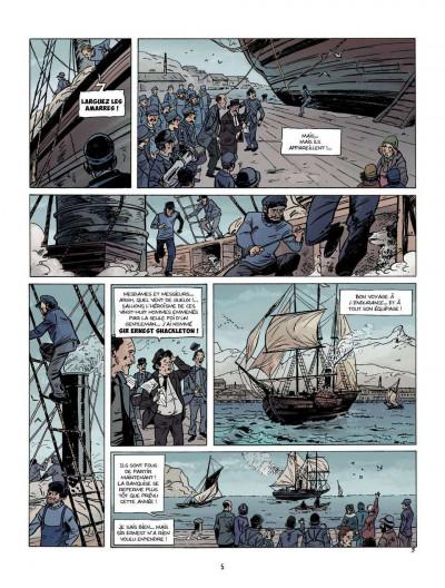 Page 3 Sur les bords du monde tome 1 - L'Odyssée de Sir Ernest Shackleton