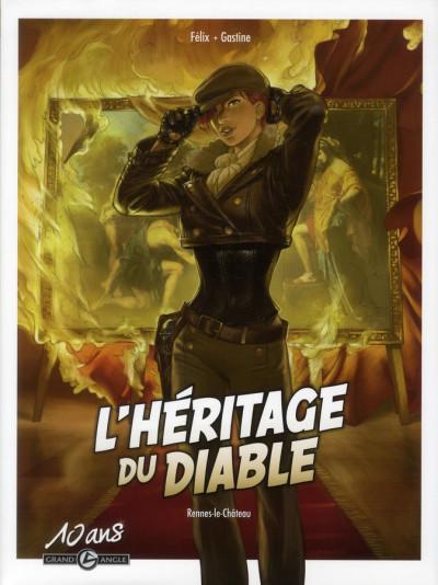 Couverture l'héritage du diable tome 1 - Rennes-le-château - édition 10 ans grand angle