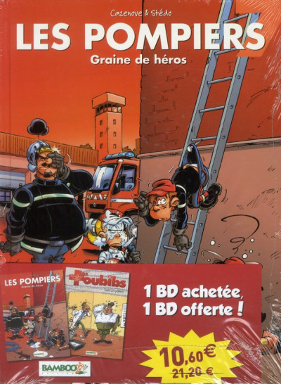 Couverture les pompiers T.7 - graine de héros