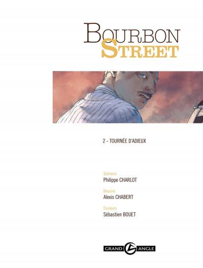 Page 1 Bourbon Street T.2 - tournée d'adieux