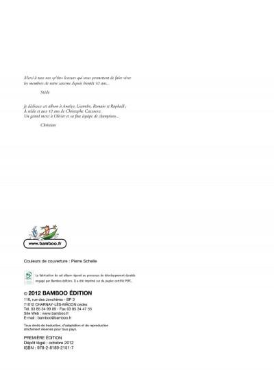 Page 1 les pompiers T.12 - pilier de barre