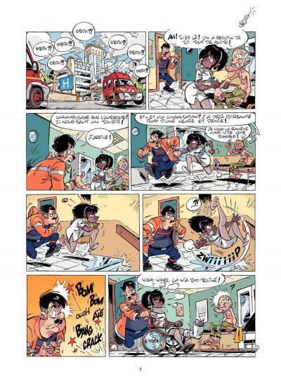 Page 4 les pompiers T.12 - pilier de barre