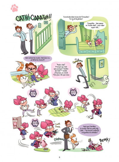 Page 8 Cath et son chat T.2