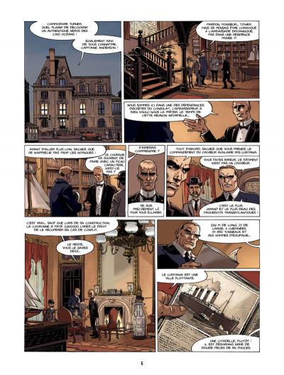 Page 5 S.O.S. Lusitania tome 1 - la croisière des orgueilleux