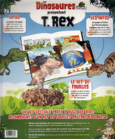 Dos Les dinosaures présentent T.Rex