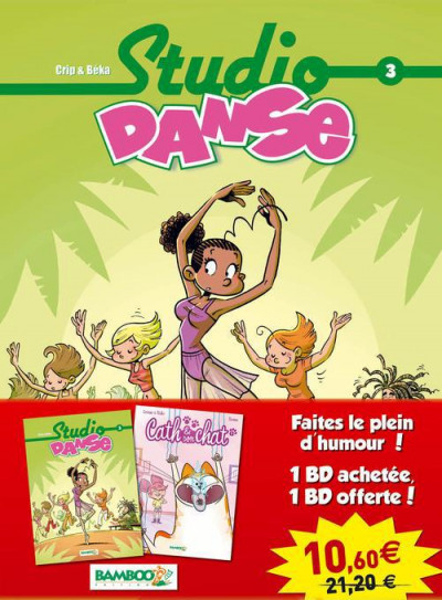 Couverture Pack studio danse tome 3 + Cath et son chat tome 1