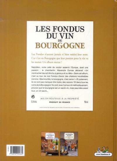 Dos les fondus du vin de Bourgogne