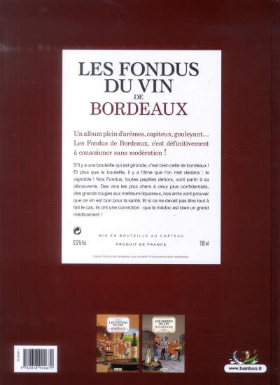 Dos les fondus du vin de Bordeaux