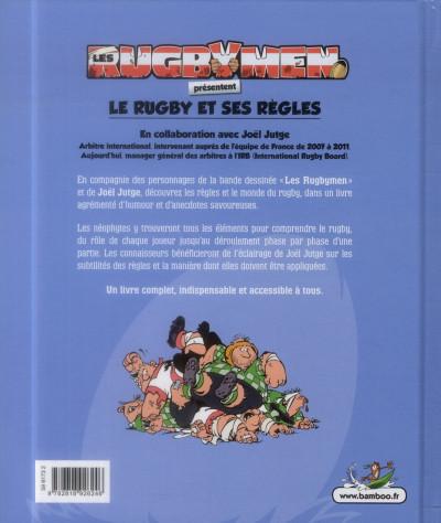 Dos Les Rugbymen - Le Rugby et ses règles (nouvelle édition)