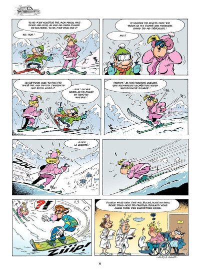 Page 7 Les Damnés de la route tome 9 - Les 2 chevaux font du ski !